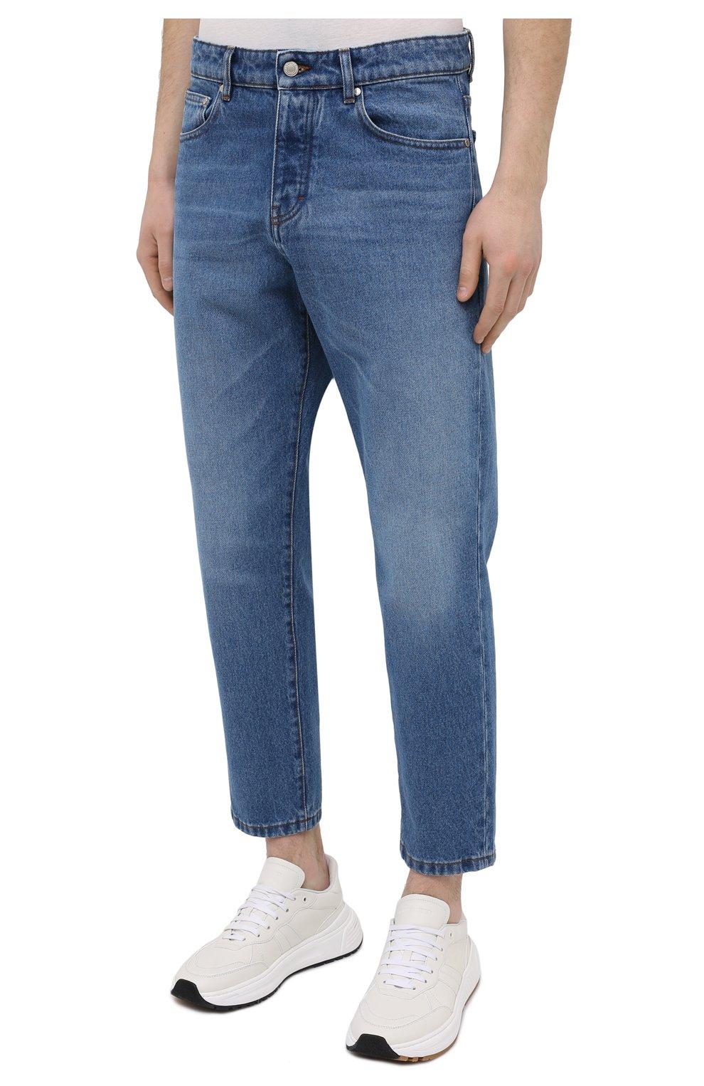 Мужские джинсы AMI синего цвета, арт. E21HD204.601 | Фото 3
