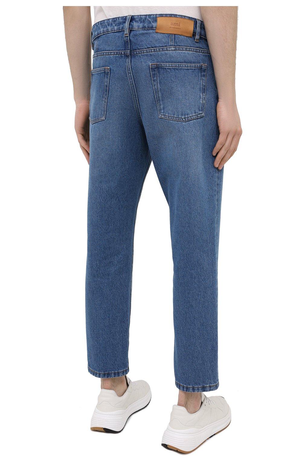 Мужские джинсы AMI синего цвета, арт. E21HD204.601 | Фото 4