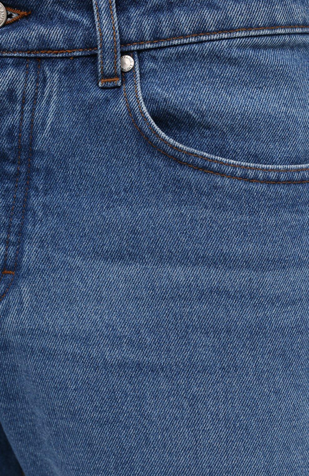 Мужские джинсы AMI синего цвета, арт. E21HD204.601 | Фото 5