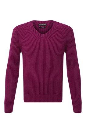 Мужской кашемировый свитер TOM FORD бордового цвета, арт. BWK56/TFK300 | Фото 1