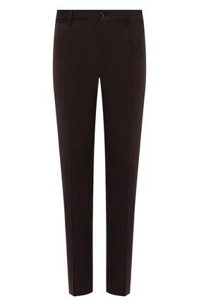 Мужские шерстяные брюки DOLCE & GABBANA темно-коричневого цвета, арт. GY6FET/FUBFA | Фото 1