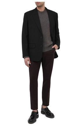 Мужские шерстяные брюки DOLCE & GABBANA темно-коричневого цвета, арт. GY6FET/FUBFA | Фото 2