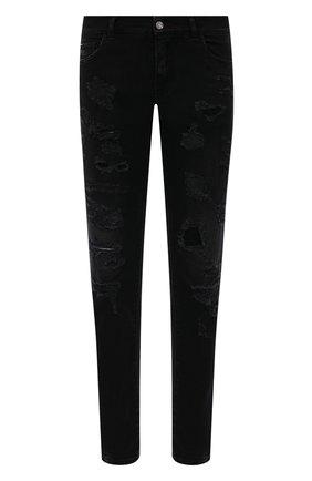 Мужские джинсы DOLCE & GABBANA черного цвета, арт. GY07LD/G8DK8 | Фото 1