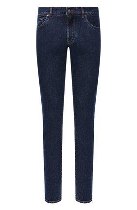 Мужские джинсы DOLCE & GABBANA синего цвета, арт. GY07CD/G8DN0 | Фото 1 (Материал внешний: Хлопок; Стили: Кэжуэл; Длина (брюки, джинсы): Стандартные; Кросс-КТ: Деним; Силуэт М (брюки): Прямые)