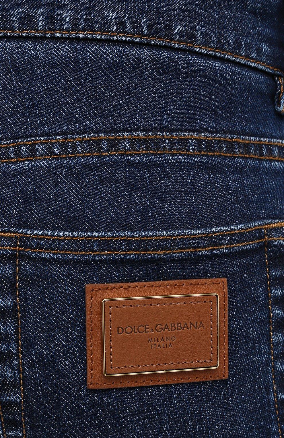 Мужские джинсы DOLCE & GABBANA синего цвета, арт. GY07CD/G8DN0 | Фото 5