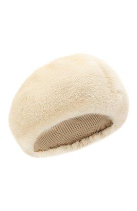 Женский берет из меха норки FURLAND бежевого цвета, арт. 0013600110188300576   Фото 1