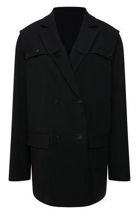 Женский шерстяной жакет RUBAN черного цвета, арт. RCSS21-3.1.42.2 | Фото 1