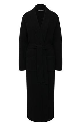 Женский кашемировый кардиган DOLCE & GABBANA черного цвета, арт. FX830T/JAW09 | Фото 1