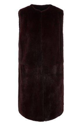 Женский жилет из меха норки DOLCE & GABBANA бордового цвета, арт. J0AASF/FUPLH | Фото 1