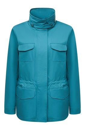 Женская куртка с капюшоном LORO PIANA синего цвета, арт. FAF8482 | Фото 1