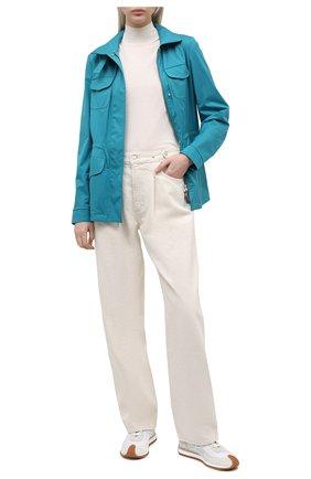 Женская куртка с капюшоном LORO PIANA синего цвета, арт. FAF8482 | Фото 2