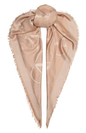 Женская шаль  VALENTINO светло-бежевого цвета, арт. VW2EB104/AJB   Фото 1