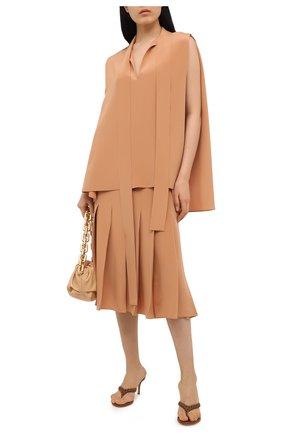 Женские кожаные мюли tropea GIANVITO ROSSI светло-коричневого цвета, арт. G19060.70RIC.NAPCU0I | Фото 2