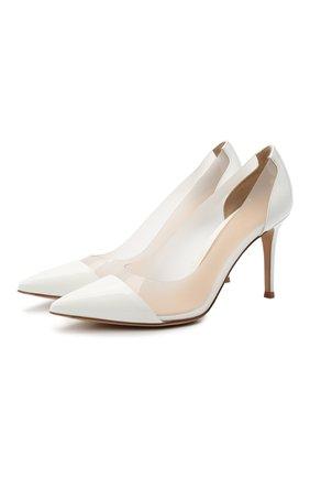 Женские комбинированные туфли plexi 85 GIANVITO ROSSI белого цвета, арт. G20938.85RIC.VGLBIBI   Фото 1