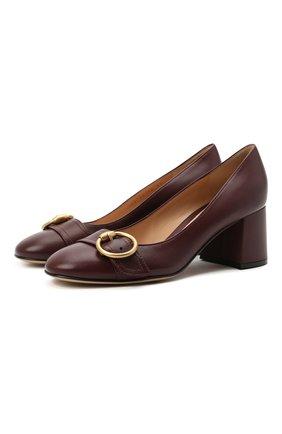 Женские кожаные туфли pamela GIANVITO ROSSI бордового цвета, арт. G21947.60RIC.NGLR0YA | Фото 1
