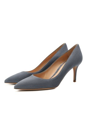 Женские замшевые туфли gianvito 70 GIANVITO ROSSI серого цвета, арт. G26770.70RIC.CAMGRIS | Фото 1