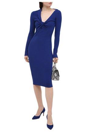 Женские замшевые туфли gianvito 70 GIANVITO ROSSI синего цвета, арт. G26770.70RIC.CAMHAWA | Фото 2