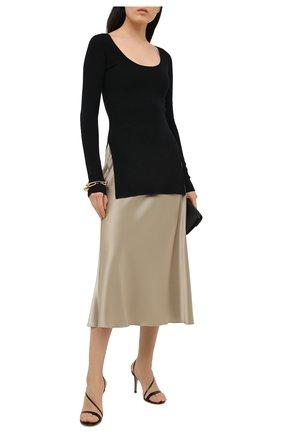 Женские кожаные босоножки manhattan GIANVITO ROSSI черного цвета, арт. G30192.85RIC.VERNER0 | Фото 2