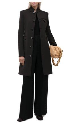 Женское шерстяное пальто BOTTEGA VENETA темно-коричневого цвета, арт. 650976/V0IV0   Фото 2