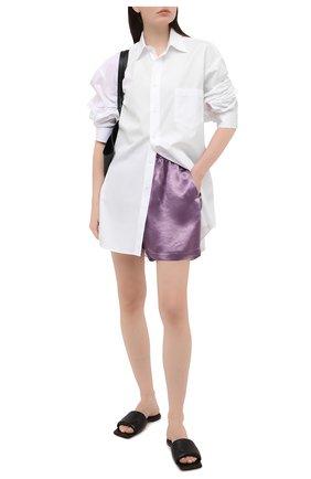 Женские шорты BOTTEGA VENETA сиреневого цвета, арт. 652539/V0CS0 | Фото 2