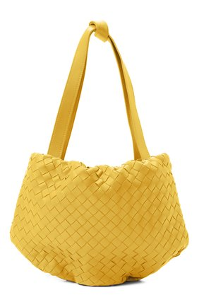 Женская сумка bulb small BOTTEGA VENETA желтого цвета, арт. 651811/V08Z1   Фото 1 (Ремень/цепочка: На ремешке; Сумки-технические: Сумки через плечо, Сумки top-handle; Материал: Натуральная кожа; Размер: small)