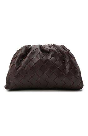 Женский клатч pouch mini BOTTEGA VENETA темно-фиолетового цвета, арт. 585852/VCPP1 | Фото 1 (Материал: Натуральная кожа; Ремень/цепочка: На ремешке; Женское Кросс-КТ: Клатч-клатчи; Размер: mini)