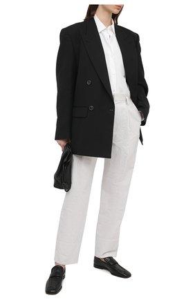 Женские брюки из хлопка и льна BRUNELLO CUCINELLI белого цвета, арт. MF787P7636 | Фото 2