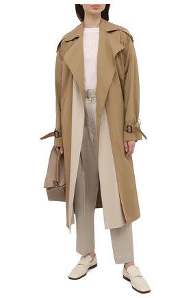 Женские льняные брюки BRUNELLO CUCINELLI светло-бежевого цвета, арт. MH506P7644 | Фото 2