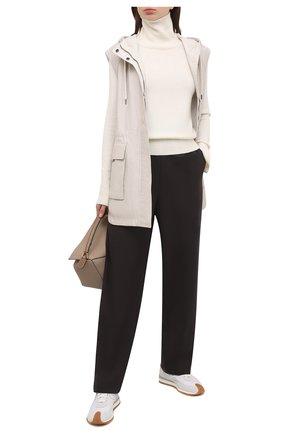 Женский кожаный жилет BRUNELLO CUCINELLI кремвого цвета, арт. MPBIS2951 | Фото 2