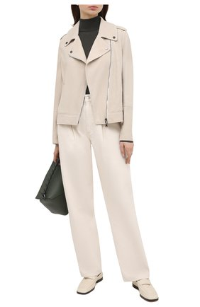 Женская замшевая куртка BRUNELLO CUCINELLI белого цвета, арт. MPCAI8795 | Фото 2