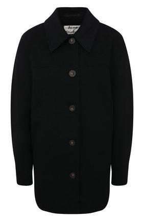 Женское шерстяное пальто ACNE STUDIOS черного цвета, арт. A90224 | Фото 1