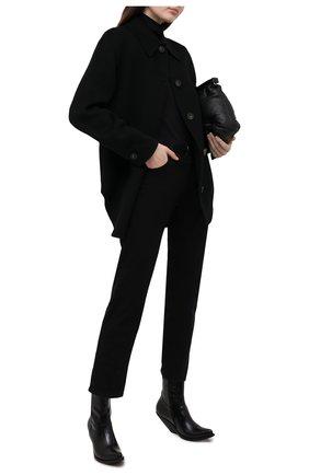 Женское шерстяное пальто ACNE STUDIOS черного цвета, арт. A90224 | Фото 2