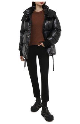 Женская пуховая куртка DOLCE & GABBANA черного цвета, арт. F9I37T/G7TTL | Фото 2