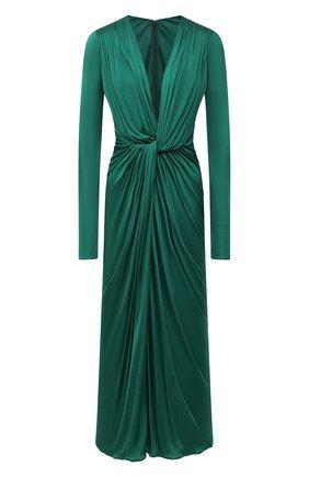 Женское платье из вискозы DOLCE & GABBANA зеленого цвета, арт. F6I4RT/HU7FI | Фото 1