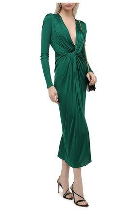 Женское платье из вискозы DOLCE & GABBANA зеленого цвета, арт. F6I4RT/HU7FI | Фото 2