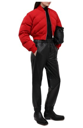 Женский пуховый бомбер BOTTEGA VENETA красного цвета, арт. 652863/V0RR0   Фото 2