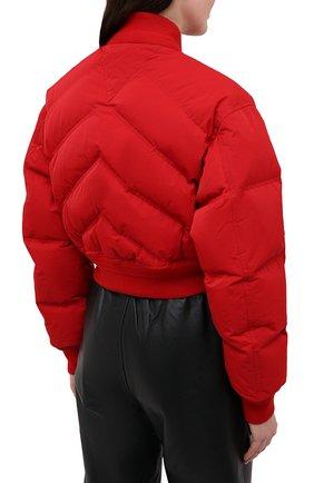 Женский пуховый бомбер BOTTEGA VENETA красного цвета, арт. 652863/V0RR0   Фото 4