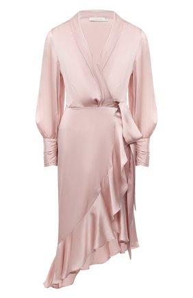 Женское шелковое платье ZIMMERMANN светло-розового цвета, арт. 8066DRAND | Фото 1