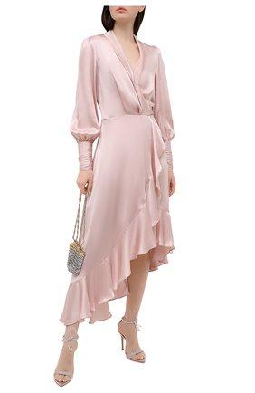 Женское шелковое платье ZIMMERMANN светло-розового цвета, арт. 8066DRAND | Фото 2