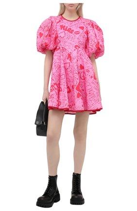 Женское льняное платье ZIMMERMANN фуксия цвета, арт. 9789DRAND/PNKGR | Фото 2