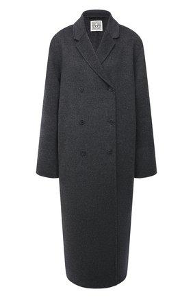 Женское шерстяное пальто TOTÊME серого цвета, арт. 211-171-720   Фото 1
