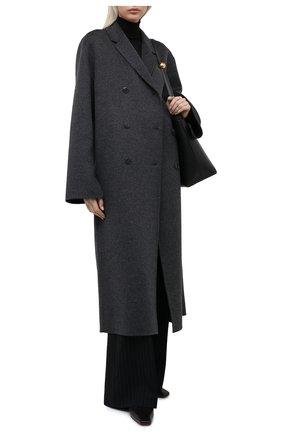Женское шерстяное пальто TOTÊME серого цвета, арт. 211-171-720   Фото 2
