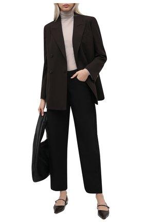 Женские брюки TOTÊME черного цвета, арт. 211-209-725   Фото 2