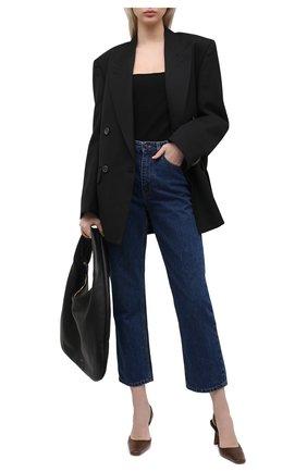 Женское боди TOTÊME черного цвета, арт. 211-473-774 | Фото 2