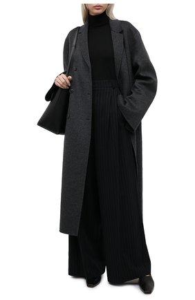 Женская шерстяная водолазка TOTÊME черного цвета, арт. 211-554-751   Фото 2