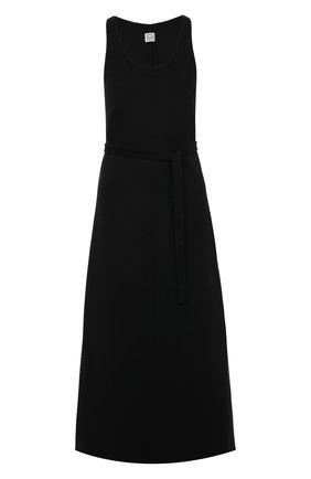 Женское шерстяное платье TOTÊME черного цвета, арт. 211-680-720   Фото 1