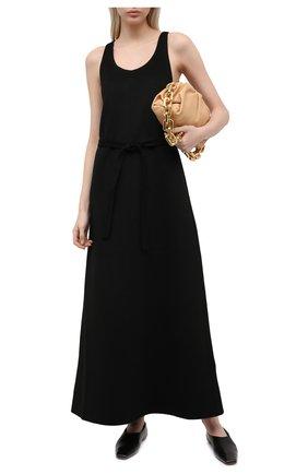 Женское шерстяное платье TOTÊME черного цвета, арт. 211-680-720   Фото 2