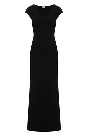 Женское платье TOTÊME черного цвета, арт. 211-685-755 | Фото 1