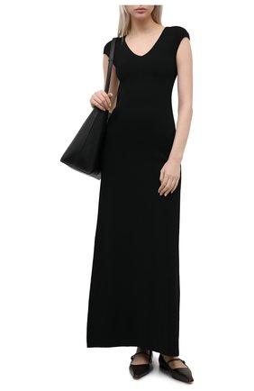 Женское платье TOTÊME черного цвета, арт. 211-685-755 | Фото 2