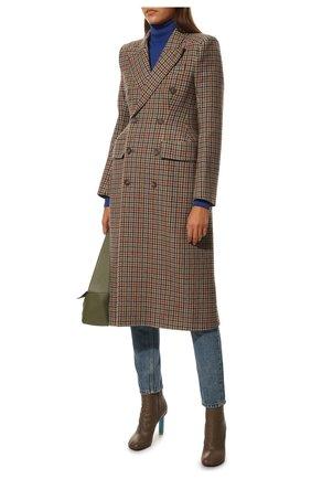Женская водолазка из кашемира и шелка TOM FORD синего цвета, арт. MAK840-YAX176 | Фото 2 (Длина (для топов): Стандартные; Материал внешний: Шелк, Шерсть, Кашемир; Стили: Классический; Рукава: Длинные; Женское Кросс-КТ: Водолазка-одежда)